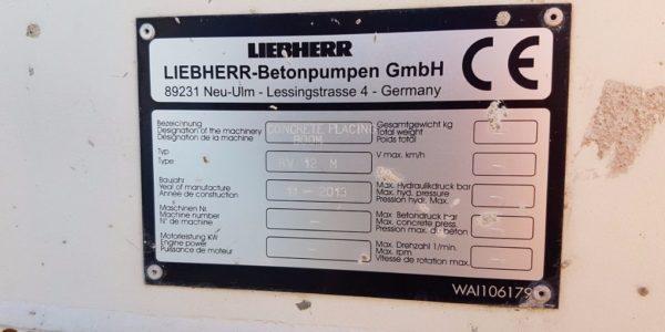 European Steel Ltd - Liebherr Concrete pump